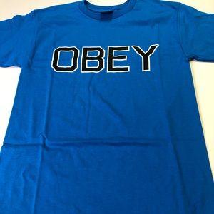 Obey Medium Sized Men's Sky Azure Blue T-Shirt